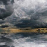 在海运的暴风云 库存图片