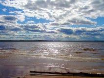 在海运的Cloudscape 图库摄影