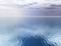 在海运视图的空中云彩 免版税图库摄影