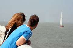 在海运附近 免版税图库摄影