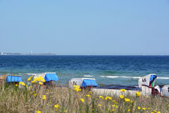 在海运somethere塔林附近的波儿地克的爱沙尼亚 免版税库存照片