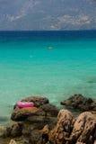 在海附近的救生圈 免版税图库摄影
