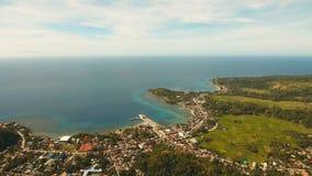 在海附近的沿海城市 菲律宾,保和省 免版税图库摄影