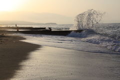 在海风景的波浪 图库摄影