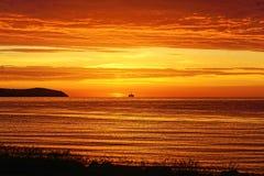 在海鳗峡湾的日出,苏格兰 库存图片