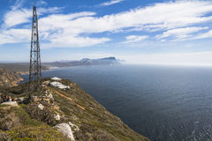 在海,南非的开普角视图 免版税库存照片