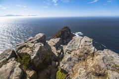 在海,南非的开普角视图 库存照片