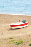 在海,土耳其附近的小船 免版税图库摄影
