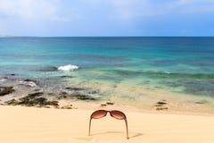 在海滩和海洋, Boavista,佛得角的美丽的景色 免版税库存图片