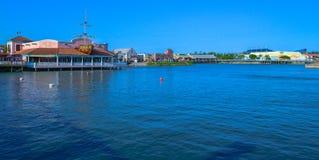 在海滩和盐水湖的百老汇 免版税库存照片