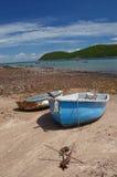 在海滩暹罗湾的双小船 库存照片