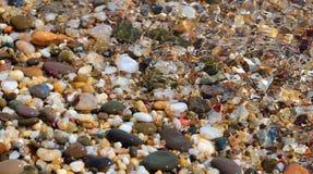 多彩多姿的小卵石 库存图片