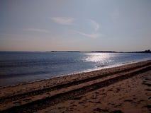 在海滩的一个晚上 库存照片