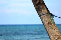 在海洋的一个看法 免版税库存图片