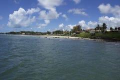 在海滩的一美好的天 免版税库存照片