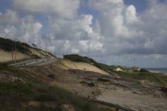 在海滩的一美好的天 库存照片