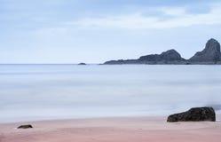 在海滩的云彩 图库摄影