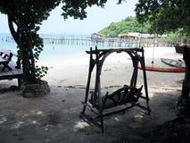 在海滩的休息区 库存照片