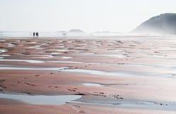 在海滩的低潮 库存照片