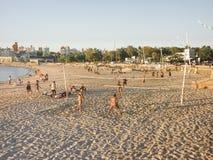 在海滩的体育在蒙得维的亚 图库摄影