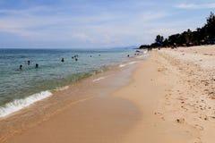 在海滩的假日 免版税库存图片