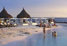 在海滩的假期在库拉索岛 库存照片
