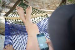 在海滩的假期 免版税库存照片