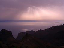 在海洋的光束 库存照片