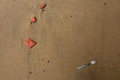 在海滩的叉子 库存图片