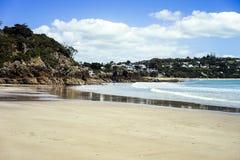 在海滩的可爱的晴天 库存图片