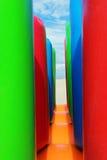 在海滩的可膨胀的结构 免版税库存图片