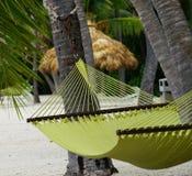在海滩的吊床在佛罗里达群岛 库存照片