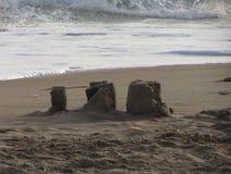 在海滩的城堡 免版税图库摄影