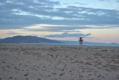 在海滩的城楼 库存照片