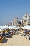 在海滩的夏天在特拉唯夫以色列 库存图片