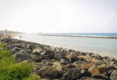 在海滩的夏天,波多黎各 图库摄影