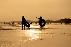 在海滩的夏天 免版税图库摄影