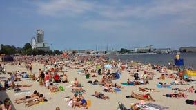 在海滩的夏天 库存照片