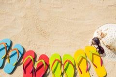 在海滩的夏时 免版税库存图片
