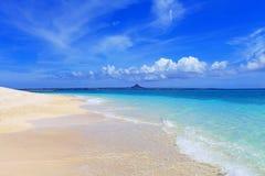 在海滩的夏令时 库存照片