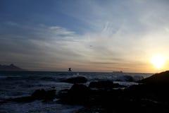 在海滩的夜间 免版税图库摄影