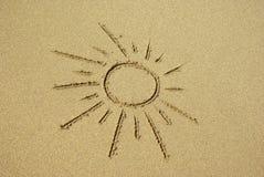 在海滩的太阳 库存图片