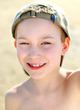 在海滩的孩子 库存照片