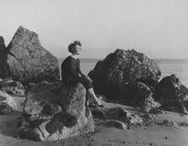 在海滨的安静的时间 库存照片