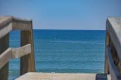 在海滩的完善的天气 免版税图库摄影
