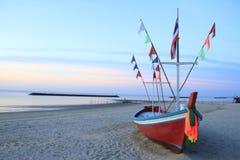 在海滩的小船 图库摄影