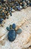 在海滩的岩石在越南南方 库存图片