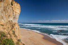 在海滨的峭壁在新南威尔斯 免版税图库摄影