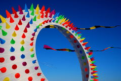 在海滩的巨型风筝在林肯城 库存图片