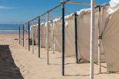 在海滩的帐篷 库存图片